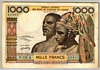 [West African States 1,000 Francs Pick:P-103Ak]